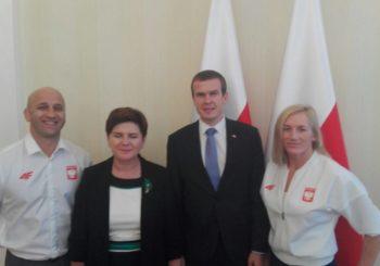 Monika Michalik odebrała gratulacje od Premier i Ministra Sportu