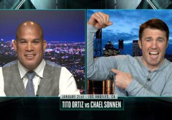 Walka zapaśnicza pomiędzy Sonnenem a Ortizem