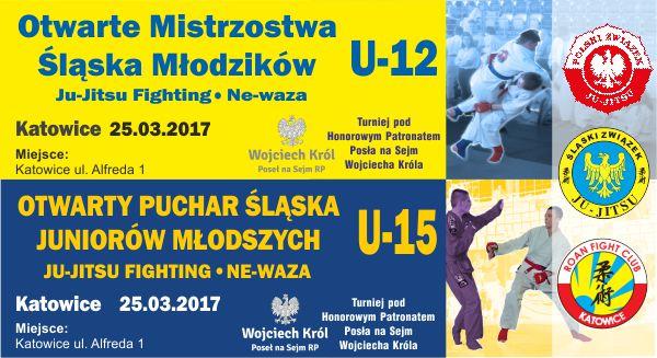 Otwarty Puchar Śląska Juniorów Młodszych U-15 Ju-Jitsu Fighting Ne-waza oraz Otwarte Mistrzostwa Śląska Młodzików U-12 Ju-Jitsu Fighting Ne-waza