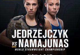 Jędrzejczyk vs. Namajunas dodane do UFC 217, 4 listopada w MSG!