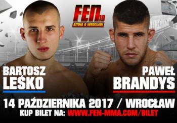 Leśko vs. Brandys dodane do karty FEN 19 we Wrocławiu!