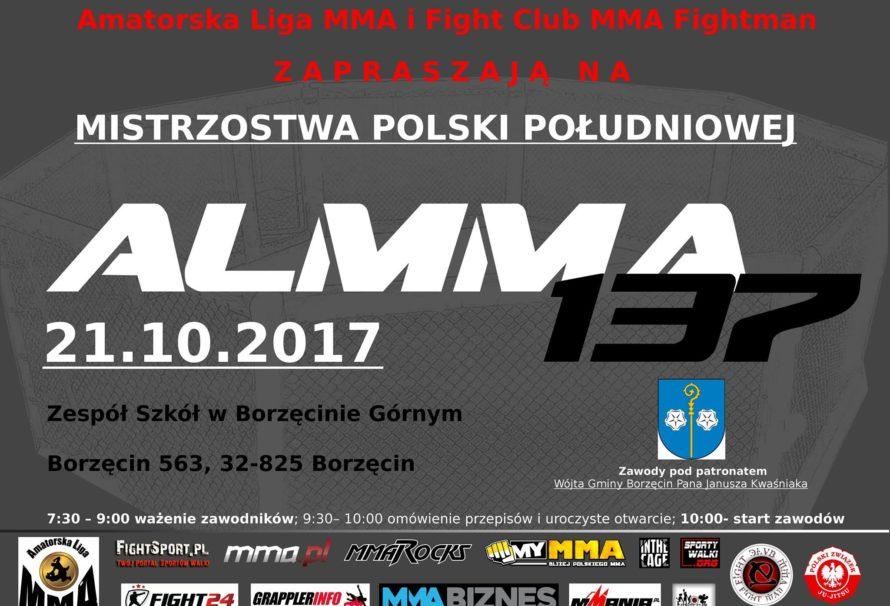 ALMMA 137 w Borzęcinie już 21 października! Zapraszamy.