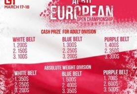 Nagrody pieniężne dla białych, niebieskich i purpur na Mistrzostwach Europy ACB w Warszawie