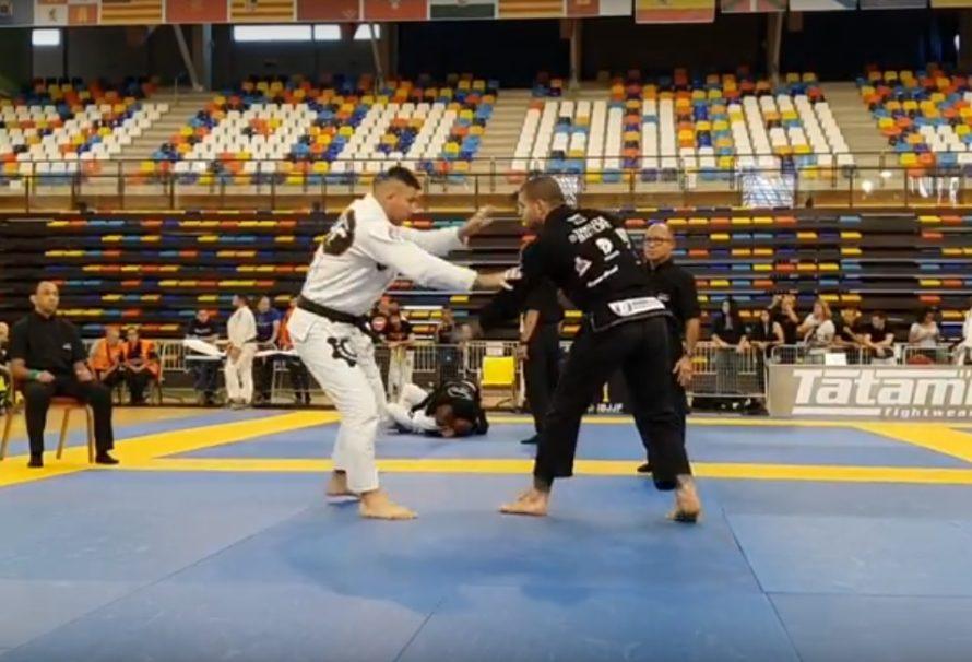 Szybka balacha na kolano od Yakuzy na IBJJF Spanish Nationals [Video]