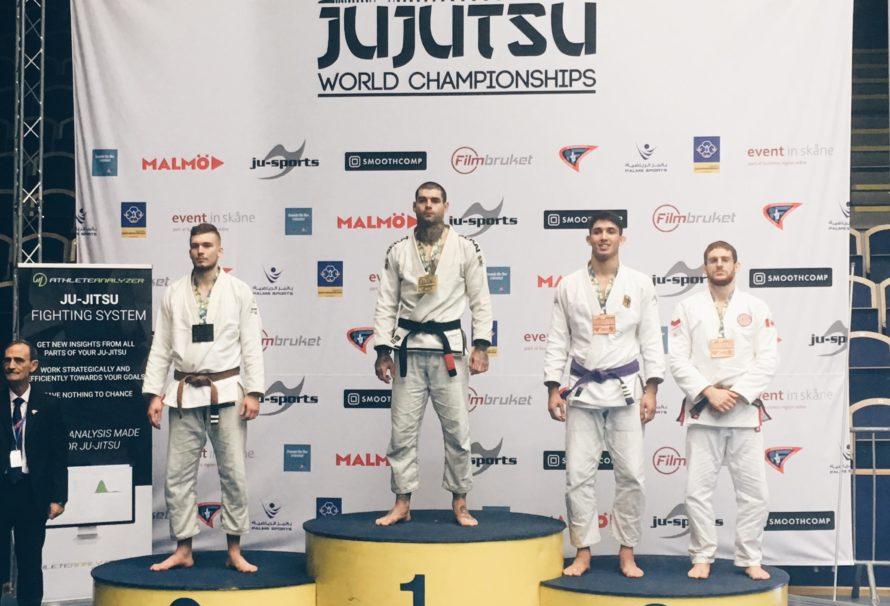Nasi z medalami po pierwszym dniu Mistrzostw Świata Ju Jitsu w Malmo