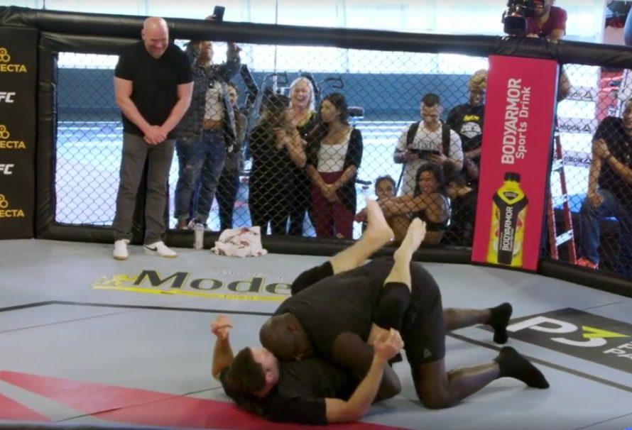 Shaquille O'Neal w grapplingowym pojedynku z weteranem UFC [Video]