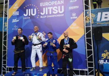 Krzysztof Łukaszewicz podwójnym medalistą Mistrzostw Europy IBJJF 2019