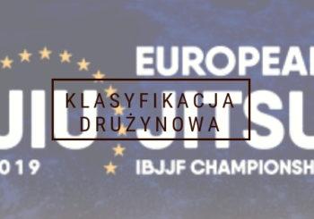 Wyniki drużynowej klasyfikacji na IBJJF Europeans 2019