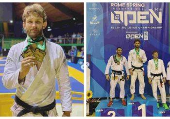 Adam Wardziński z podwójnym złotem po IBJJF Rome Open