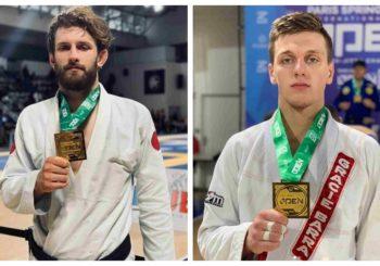 Adam Wardziński i Jakub Zajkowski z medalami po IBJJF Paris Spring Open