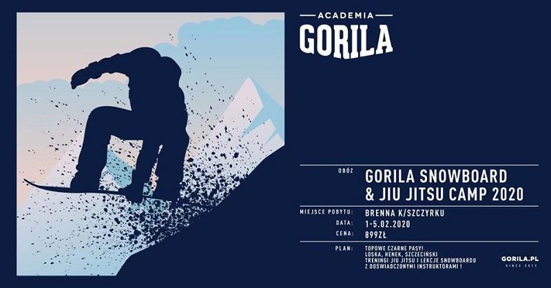 Atakuj stok z Gorylami na Winter Camp 2020 Snowboard & Jiu-jitsu