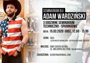 Seminarium BJJ z Adamem Wardzińskim w Gdyni jeszcze w marcu