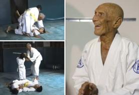 Niewidziane dotychczas nagranie z treningu Helio Gracie z wnukami [wideo]